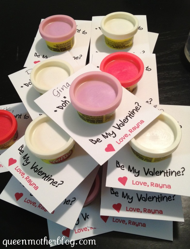 Play Doh party favors, play doh valentine, Dough valentines
